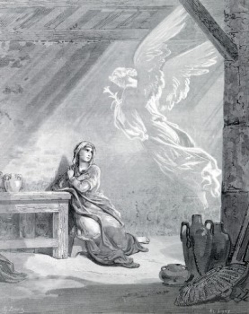 The Annunciation by Gustave Dore  1832-1883 Poster Print - Item # VARSAL99587150