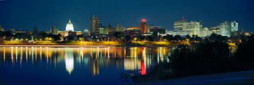 Buildings at the waterfront, State Capitol Building, Harrisburg, Pennsylvania, USA Poster Print - Item # VARPPI117689