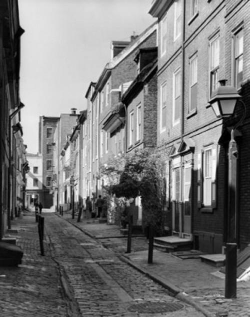 Houses on both sides of a street  Elfreth's Alley  Philadelphia  Pennsylvania  USA Poster Print - Item # VARSAL25532426