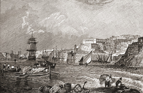 The Grand Harbour, Valetta, Malta After The Painting By Turner. From The Book Short History Of The English People By J.R. Green, Published London 1893 PosterPrint - Item # VARDPI1878019