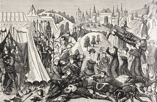 After The Battle Of Hastings, October 14, 1066, The Relatives Of The Vanquished Come To Carry Away Their Dead. From Military And Religious Life In The Middle Ages By Paul Lacroix Published London Circa 1880. PosterPrint - Item # VARDPI1905723