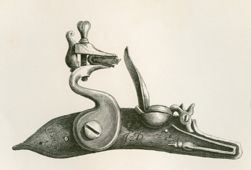 17Th Century Regulation Lock. From The British Army: It's Origins, Progress And Equipment, Published 1868. PosterPrint - Item # VARDPI2334573