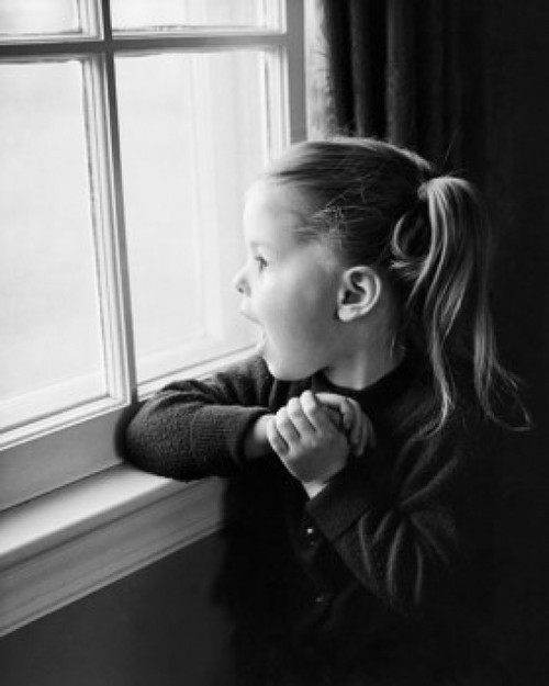 Girl looking through a window Poster Print - Item # VARSAL25514377A