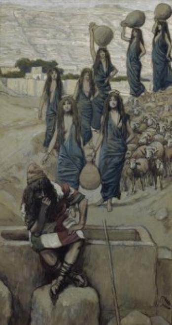 Moses at the Well at Midian   James J. Tissot   Jewish Museum  New York Poster Print - Item # VARSAL999447