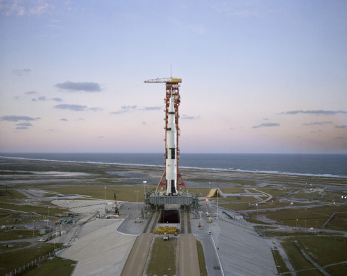 High-angle view of the Apollo 8 spacecraft on the launch pad Poster Print - Item # VARPSTSTK203925S