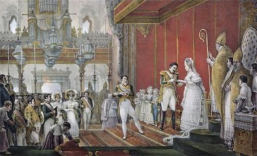 Marriage Of Emperor Pedro I To Princess Amelie De Leuchtenberg Jean Baptiste Debret Poster Print - Item # VARSAL900107334