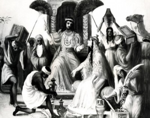 Solomon Receives the Queen of Sheba by Vittorio Bianchini  1797-1880 Poster Print - Item # VARSAL99587120