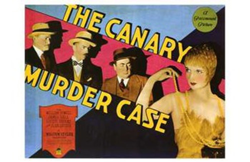 The Canary Murder Case Movie Poster (17 x 11) - Item # MOV197522