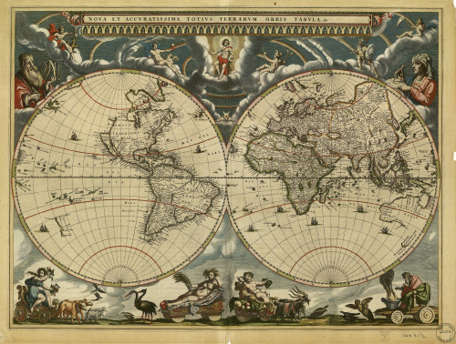 World Map, 17th Century Poster Print by Science Source - Item # VARSCIBE8606