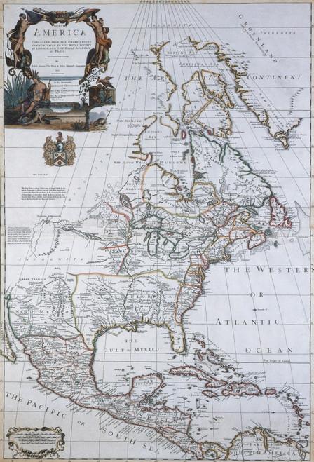 North American Map, 1710 Poster Print by Science Source - Item # VARSCIBR6550