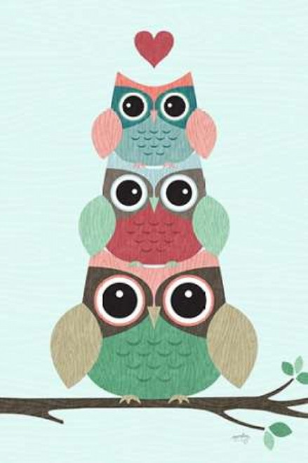 24 x 24 Woodland Babies IV Poster Print by Noonday Design
