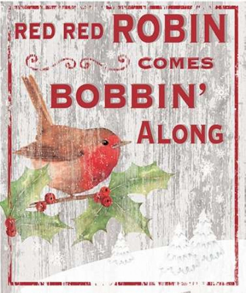 Red Red Robin Poster Print by P.S. Art Studios - Item # VARPDXPL1334