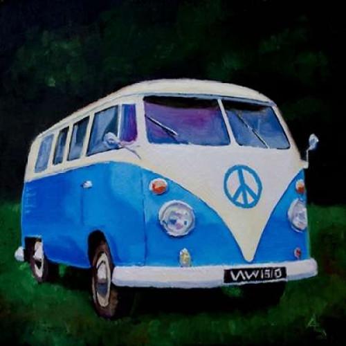 Blue Van Poster Print by P.S. Art Studios - Item # VARPDXPL1442