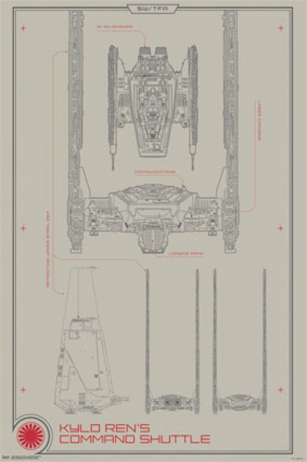 Collector - Star Wars The Force Awakens - Command Shuttle Poster Poster Print - Item # VARTIARP13979