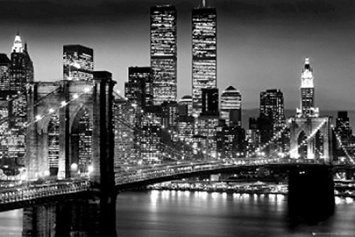New York City Brooklyn Bridge Night Poster Poster Print - Item # VARSCO33320
