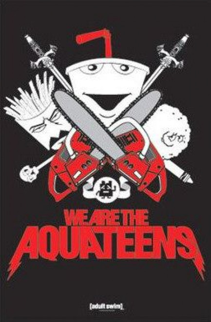 Aqua Teen Red & Black with Chainsaws Poster Poster Print by - Item # VARXPP3955