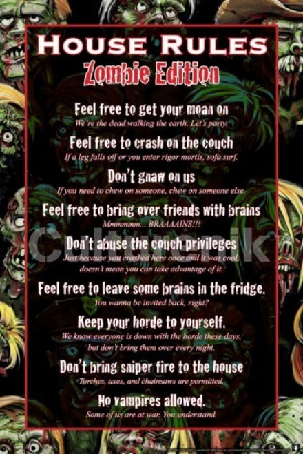 House Rules - Zombie Poster Poster Print - Item # VARIMPST5460R