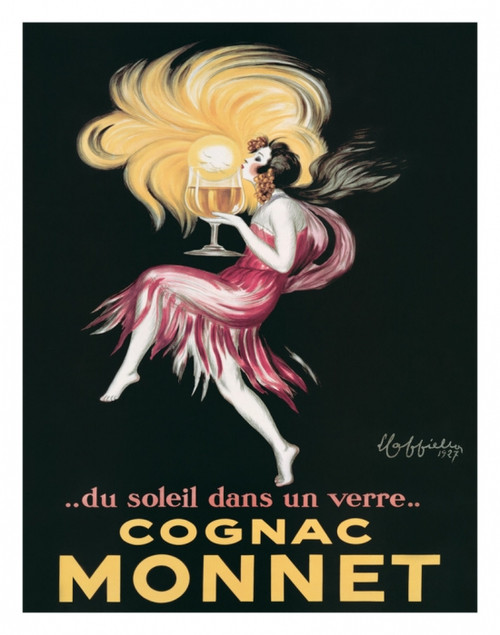 COGNAC PELLISSON vintage ad poster FRENCH LIQUOR collectors colorful 24X36
