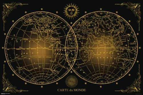 World Map - Carte du Monde Poster Poster Print - Item # VARPYRPAS0814