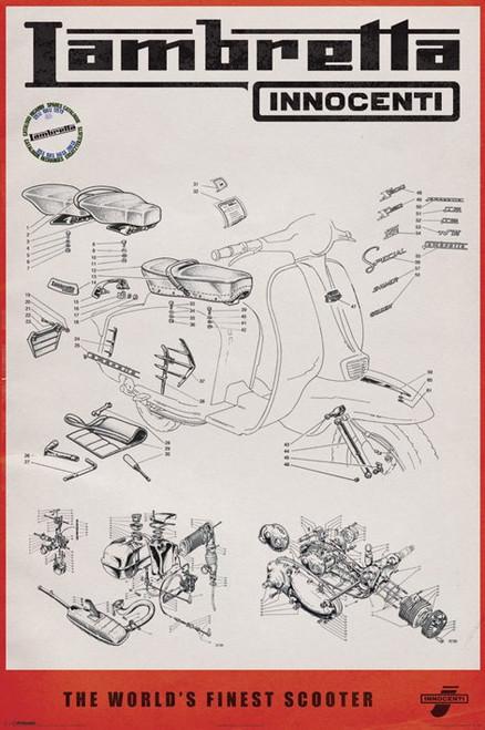 Lambretta - Line Drawing Poster Poster Print - Item # VARPYRPP32878