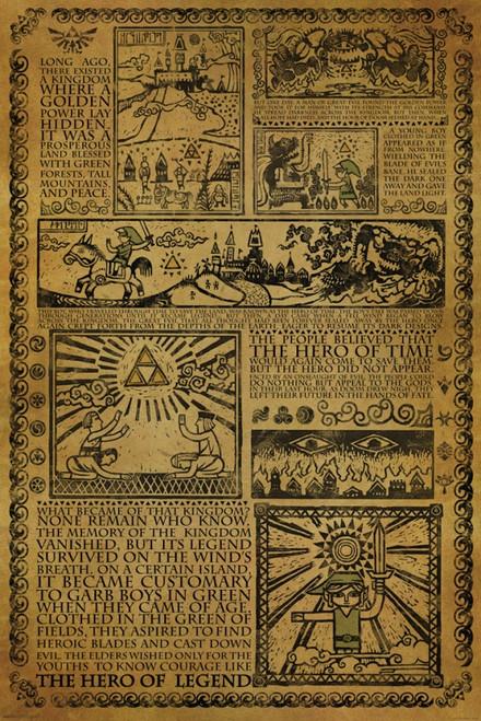 Zelda - Story of the Hero Poster Poster Print - Item # VARPYRPAS0686