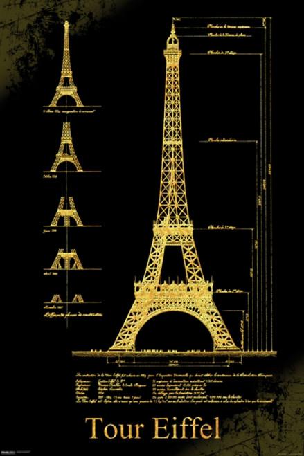 Eiffel Tower Design Poster Poster Print - Item # VARPYRPAS0797