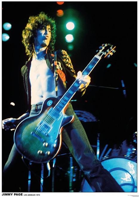 Jimmy Page LA Led Zeppelin - Los Angeles 1972 Poster Poster Print - Item # VARXPS1253