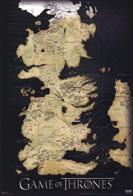 Game of Thrones - Map of Westros - Vertical Poster Poster Print - Item # VARPYRPAS0284