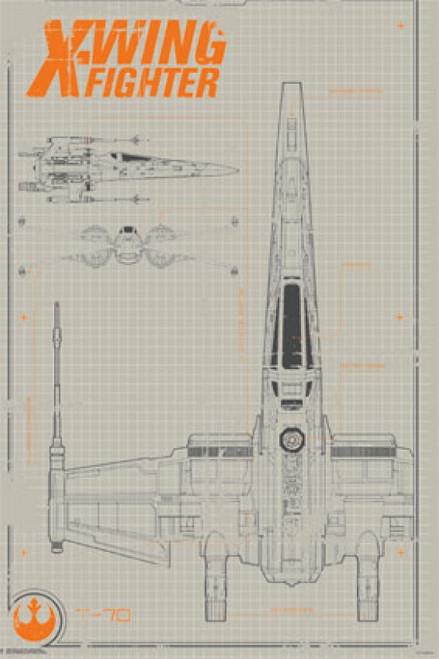 Collector - Star Wars The Force Awakens - X-Wing Poster Poster Print - Item # VARTIARP13985