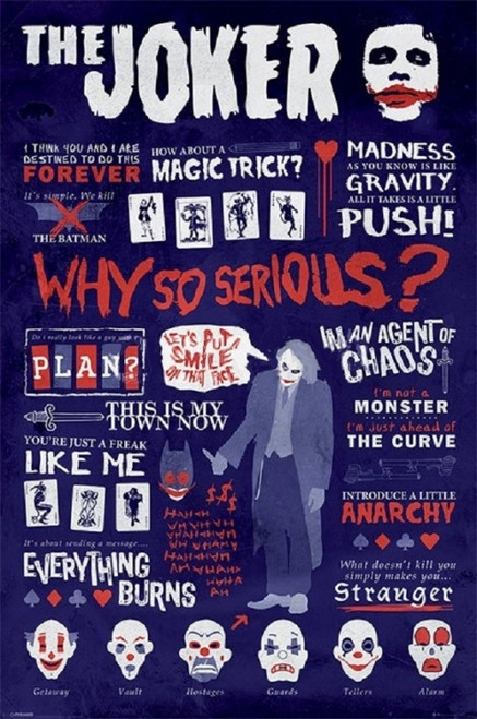 Batman Joker Quotegrahic Poster Poster Print - Item # VARXPE160180