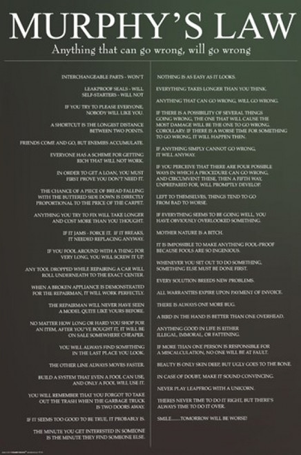 Murphy's Law Poster Poster Print - Item # VARIMPST4134R