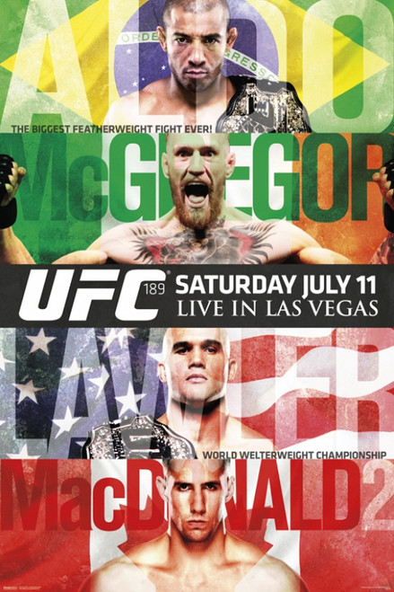 UFC 189 - Aldo vs. McGregor Poster Poster Print - Item # VARPYRPAS0764