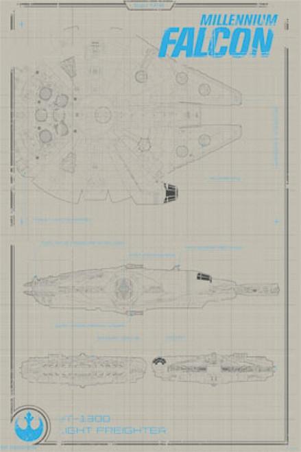 Collector - Star Wars The Force Awakens - Millennium Falcon Poster Poster Print - Item # VARTIARP13984