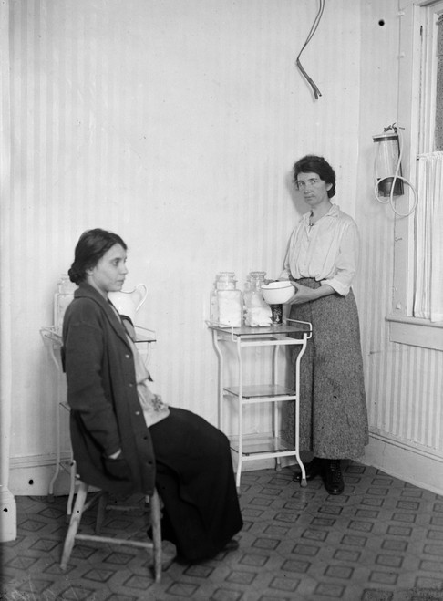 Margaret Sanger /N(1879-1966). American Birth Control Activist, Sex Educator, And Nurse. Photographed With A Patient, C1920. Poster Print by Granger Collection - Item # VARGRC0266798