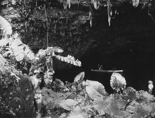Tahiti: Maraa Grotto. /Nthe Maraa Grotto In Tahiti, French Polynesia. Photograph By Lucien Gauthier, C1910. Poster Print by Granger Collection - Item # VARGRC0351652