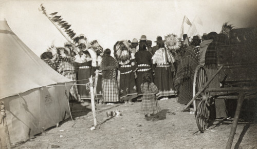 Sioux Dancers, C1908. /Nrear View Of Oglala Sioux Women At A Dance Ceremony On The Pine Ridge Reservation In South Dakota. Photographed C1908 By Solomon D. Butcher. Poster Print by Granger Collection - Item # VARGRC0115740