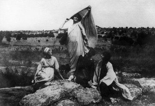 Isadora Duncan (1878-1927). /Namerican Dancer. Duncan (Standing) Photographed With A Group Of Dancers In Ancient Greek Costume While Visiting Greece, 1920. Poster Print by Granger Collection - Item # VARGRC0128601