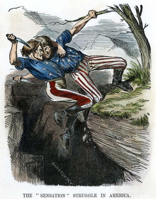 Cartoon: Civil War, 1862. /Nthe 'Sensation' Struggle In America. English Cartoon On The Enormous Cost, In Both Men And Money, Of The Civil War In America. Cartoon, 1862. Poster Print by Granger Collection - Item # VARGRC0011133