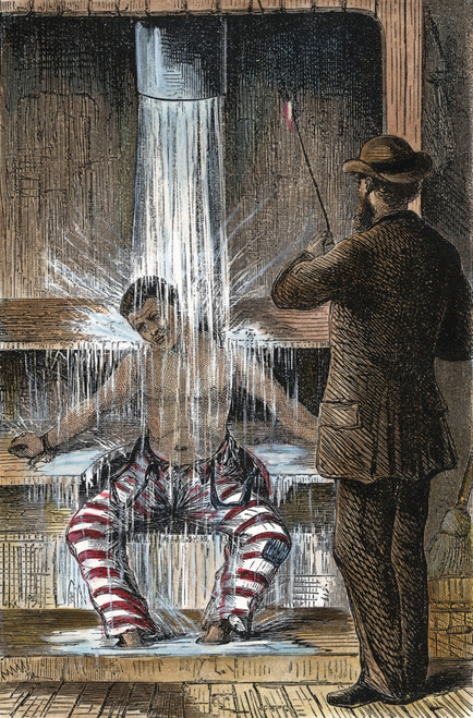 Torture At Sing Sing C1869. /Ntorture By Shower-Bath At Sing Sing Prison, New York. Line Engraving, C1869. Poster Print by Granger Collection - Item # VARGRC0010796