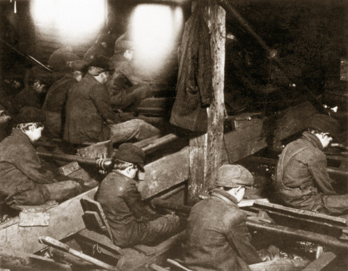 Child Labor, 1911. /Nboys Picking Slate From Coal In The Pennsylvania Breaker At South Pittson. Photographed In 1911 By Lewis W. Hine. Poster Print by Granger Collection - Item # VARGRC0000716