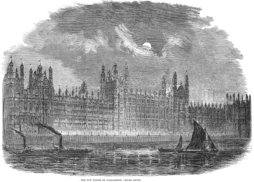 24 x 36 Palace Of Westminster London England Wood Engraving English 1855 Poster Print by Parliament Chandelier Nchandelier In The Great Central Hall Of The New Houses Of Parliament
