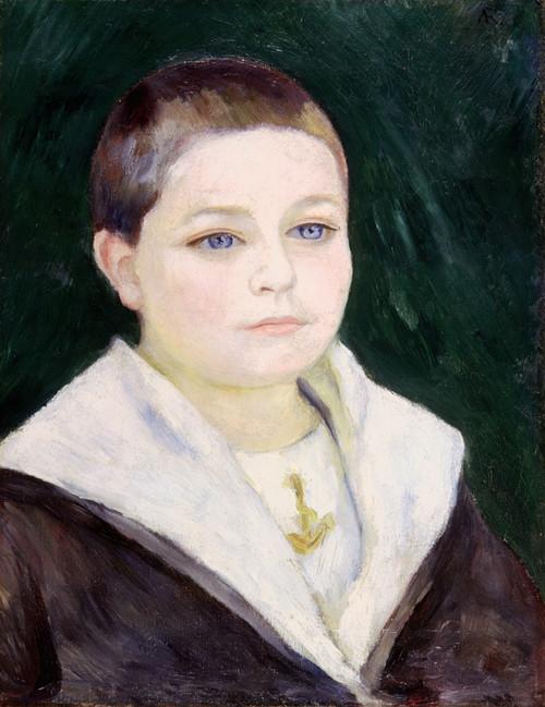Renoir: Boy, C1884. /Npierre Auguste Renoir: Portrait Of A Boy. Oil On Canvas, C1884. Poster Print by Granger Collection - Item # VARGRC0068081