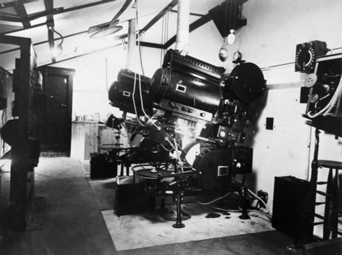 Filmmaking: Sound, 1926. /Ninterior Of The Projection Booth And The Projectors With Disc Attachments For Sound At The Theatre Royal In Newcastle, England. Photograph, C1926. Poster Print by Granger Collection - Item # VARGRC0174677