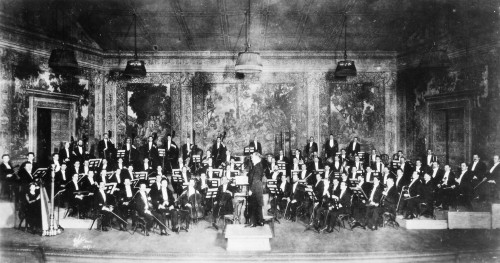 New York Orchestra, C1915. /Nwalter Damrosch Leading The New York Symphony Orchestra. Photographed C1915. Poster Print by Granger Collection - Item # VARGRC0017856