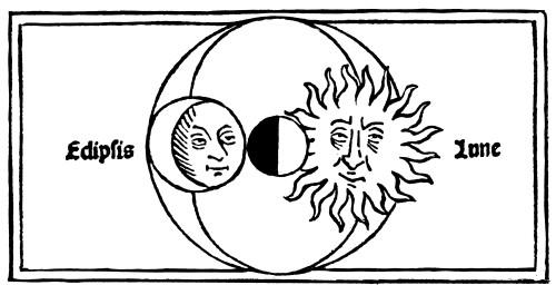 A Lunar Eclipse, 1482. /Nwoodcut From Johannes De Sacrobusco'S 'Opus Sphaericum', Venice, 1482. Poster Print by Granger Collection - Item # VARGRC0050716