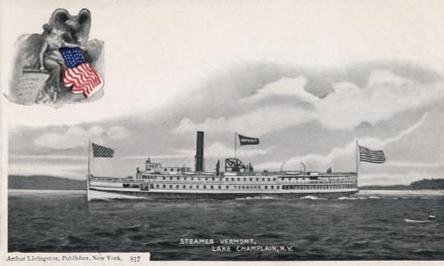 Steamer Vermont, C1905. /Nthe Steamer Vermont On Lake Champlain, New York. Postcard Published By Arthur Livingston, C1905. Poster Print by Granger Collection - Item # VARGRC0323911
