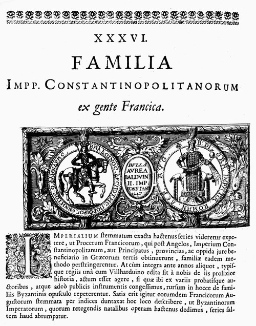 Baldwin Ii (1217-1273). /Nlast Emperor Of The Latin Empire Of Constantinople. Woodcut From 'Historia Byzantina,' 1680. Poster Print by Granger Collection - Item # VARGRC0106586