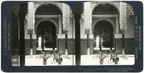 Spain: Seville, C1908. /N'Interior Of The Alcazar - Former Palace Of The Moorish Kings, Seville, Spain.' Stereograph, C1908. Poster Print by Granger Collection - Item # VARGRC0323726