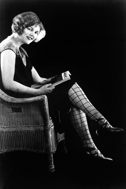 Patterned Stockings, 1920S. /Nmodel Wearing Patterned Stockings Coordinated With Her Dress, 1920S. Poster Print by Granger Collection - Item # VARGRC0093333