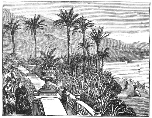 Monaco: Balcony, 1875. /Na Balcony Overlooking The Mediterranean At Monaco. Wood Engraving, English, 1874. Poster Print by Granger Collection - Item # VARGRC0095473